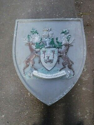 Derby Coat of Arms/ Crest- Cast Aluminium Sign/ Plaque (491P)