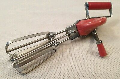 Vintage Tala Red Handle Whisk Stainless Steel Whisk Retro Kitchenalia 1950s 60s