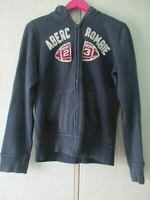 girls ABERCROMBIE & FITCH NAVY COTTON ZIP RONT HOODIE SIZE XL MUSCLE FIT