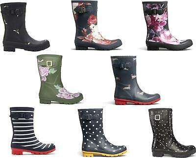 Joules MOLLY WELLY Womens Ladies Rubber Mid Height Stylish Wellington Boots