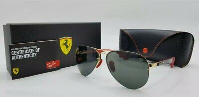 Ray-Ban RB 3460-M F008/71 Scuderia Ferrari Red, Black & Gold Sunglasses Frames