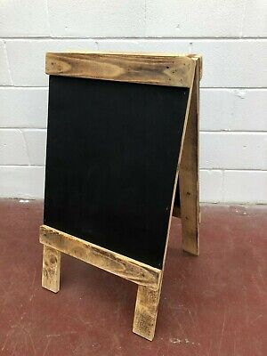 Wooden A Frame restaurant, menu, message, chalk boards, display,Pavement Stand