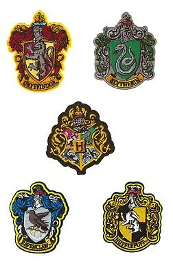 5 Patchs Thermocollants Harry Potter - Iron Patch Gryffondor Poudlard Serpentard