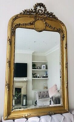 LOVELY LARGE 19thC ANTIQUE FRENCH GILTWOOD  MIRROR C1840