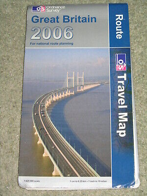 OS Ordnance Survey Great Britain Route Travel Map 2006 1:625,000 scale