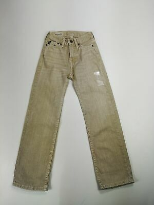 New Kids Gap Sand Beige Denim Jeans Age 8 Slim W20 L24 Boys Children's Straight