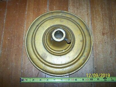 Vintage DETTRA Flag Co Heavy Cast Iron Flag Stand Base