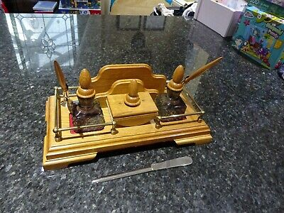 Desk top inkwell set with pens