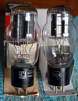 Valves Tubes 2A3 Rca Vintage Triodes Matched Pair Used