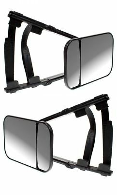 Mitsubishi Outlander Caravan Trail Extension Towing Oval Dual Mirror Convex Pair
