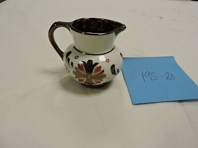 Miniature Old Castle England Creamer Pitcher Copper Lusterware