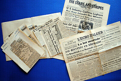 D-Day Landings / Normandy Invasion: collection soldier's newspaper cuttings 1944