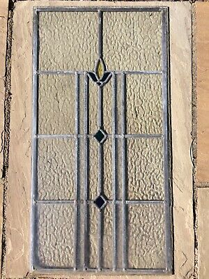 Large Leaded Art Deco 1930's Stained Glass window Panel