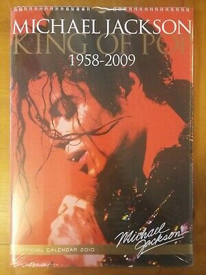 Michael Jackson King Of Pop Large Official 2010 Calendar, New, Sealed - Rare!