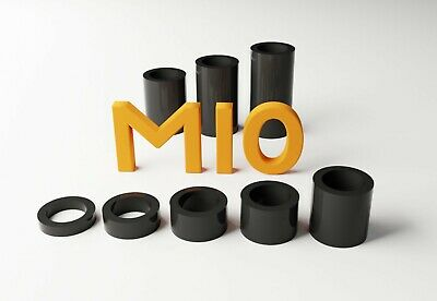 M10 Black Plastic Spacers Standoff Washer Nylon 3mm to 30mm Choice of Quantity.