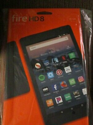 """New Amazon Fire HD Tablet, Hands-Free with Alexa, 8"""" HD Display, 16 GB, Black"""