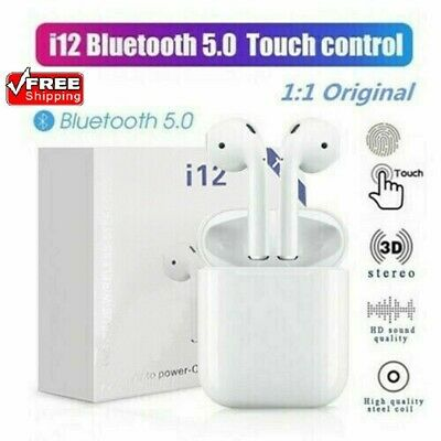 i12 TWS Bluetooth 5.0 Earbuds Wireless Headphones Earphones For iphone Android