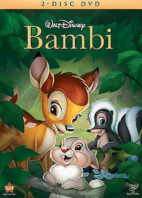 BAMBI (DVD,2011,2-Disc Set) DISNEY'S ALL TIME CLASSICAL FAVORITE...FREE SHIPPING