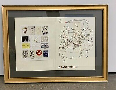 Rare! Chanterelle Restaurant Menu Art Merce Cunningham New York Dancer Sold Out