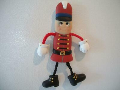 Ceramic Bisque Hand-Painted Toy Solider Poseable Refrigerator Magnet