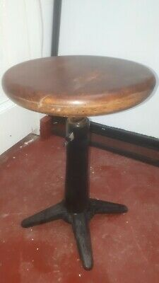 Antique Vintage Industrial Singer Cast Iron sewing Stool