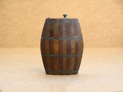 Old Antique Vintage Wooden Wood Keg Barrel Vessel Cask Tub Pail Small Rustic