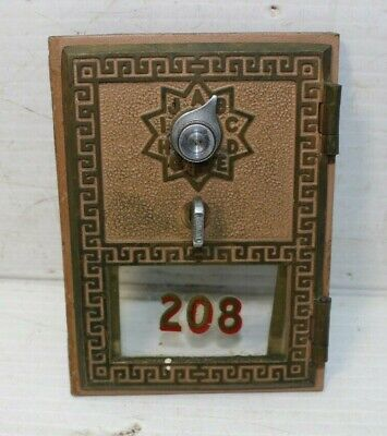 Vintage Brass Post Office Mailbox Door Cover Keyless Lock Co 1959