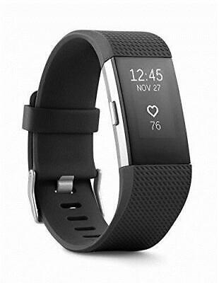 Fitbit Charge 2 Heart Rate + Fitness Wristband Black Large FB407SBKS-