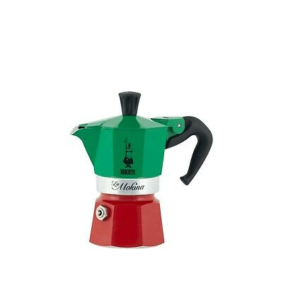 Mokina Bialetti Mini Moka Coffee Maker Tricolore 1 Cup 1.35oz | Made in Italy