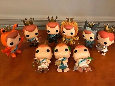 Lot Of 9 FREDDY FUNKO ZODIAC POP SET EXCLUSIVE CANCER LEO ARIES Loose