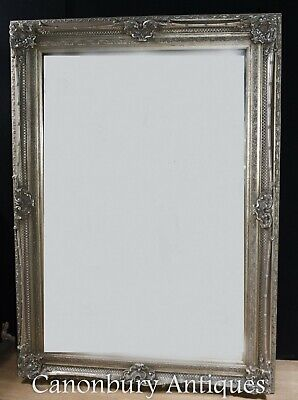 Large Victorian Mirror - Silver Gilt Frame 7 Foot Tall