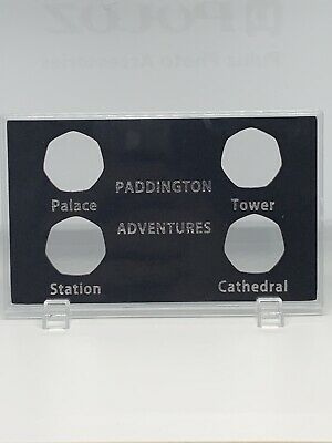 2018 & 2019 Paddington 50p Display Case For All 4 Coins. Tower, Cathedral.