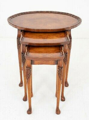 Antique Nest Tables - Burr Walnut 1920