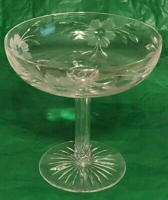 Antique Hollow Stem Crystal Compote