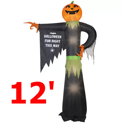 Large Pumpkin Halloween Sign Giant Inflatable Airblown Outdoor Yard Decoration