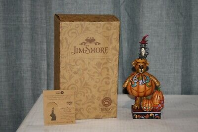 Jim Shore Boyds Gourdy T Punkinbeary With Midnight Figurine 4022297