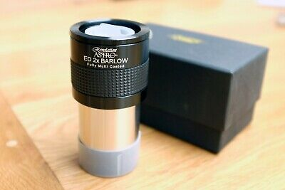 "Revelation Astro 2"" ED 2x Barlow Lens with 1.25"" Adapter - Very Nice - Boxed"