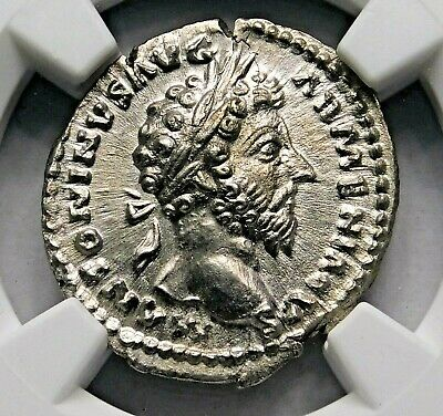 NGC MS 5/5-3/5 Marcus Aurelius Stunning Denarius. Father of Commodus Silver Coin