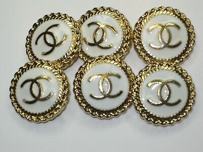 Chanel  Authentic White Gold 20Mm Buttons This Is For Six