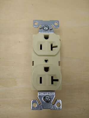 Arrow Hart / Cooper 5362V Ivory duplex receptacle 5-20R 20amp (Lot of 10)