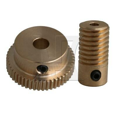 1:50 0.5-mode 50Teeth Industrial Brass Worm Gear & Shaft Reducer 3mm