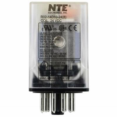 NEW NTE R02-14D10-24 24 Volt DC Coil, 10 Amp 3PDT 11 Pin Octal Relay