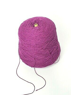 Purple 1.9 lbs Cone Yarn Knitting Machine Vintage