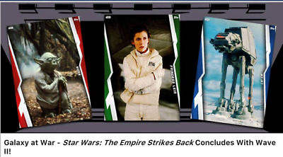 Topps Star Wars Card Trader Galaxy At War Blue Empire Strikes Back Set 2 + 24 hr