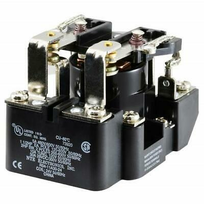 NEW NTE R04-11A30-24 24 Volt AC Coil, 30 Amp DPDT Heavy Duty Open Frame Relay