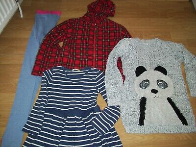 Girls bundle of clothing. Age 9/10 years.Tights, jacket, jumper, dress.