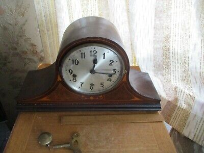 rare 1900 iMUSTERSCHUTZ WESTMINSTER CHIME neopolian hat  MANTLE CLOCK/GERMANY
