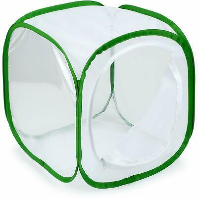 White Insect Butterfly Habitat Cage Terrarium Pop Up Panels Airflow Large Zipper