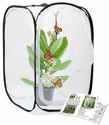 Tall Black White Insect Butterfly Habitat Cage Terrarium Pop Up Large Zipper