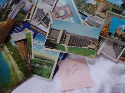 Lot of About 200 U.S. Post Cards Vintage 1930's -1990's - Mostly Unused -Good #2